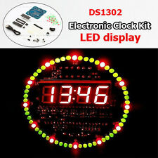 DS1302 DIY CAD 51 MCU Learning Board Digital Rotation LED Electronic Clock Kit