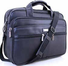"17"" Laptop Bag Faux Leather Messenger Briefcase Office Business Work Bag In UK"