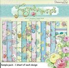 DOVECRAFT FORGET ME NOT PAPERS 6 X 6 SAMPLE PACK 1 OF EACH DESIGN - 12 SHEETS