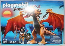PLAYMOBIL DRAGONS SET 5483 15 PC NEW IN SEALED BOX KNIGHT VS ORANGE DRAGON
