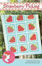 STRAWBERRY PICKING Moda ITS SEW EMMA Fat Quarter Friendly QUILT PATTERN