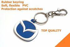 NEW Mazda keyring 3 6 keychain mx5 rx-7 key holder rubber car logo light pvc