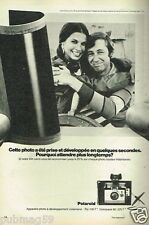Publicité advertising 1972 Appareil Photo Polaroid ZIP Colorpack