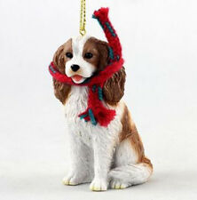 "LARGE 3"" CAVALIER KING CHARLES SPANIEL DOG CHRISTMAS ORNAMENT HOLIDAY Figurine"