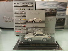 1/64 Kyosho Porsche 4 911 RS (993) Silver Diecast GT2 RS 993
