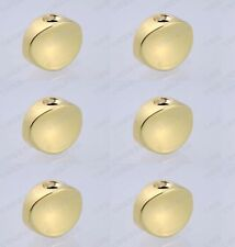 Gold 6 Pcs New Guitar Metal Oval Tuning Key Machine Buttons For BT-17GD