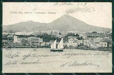 Napoli Torre del Greco Vesuvio cartolina XB1039