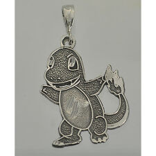 0301 Charmander Pokemon Pendant Charm Sterling Silver Jewelry fire type dragon