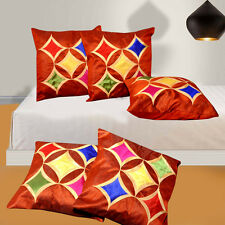 Dream Decor Set of 5- Designer cushion covers (16x16 inch)-5star rust