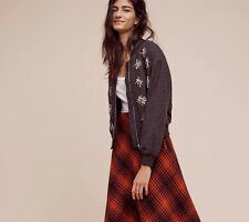 NWT Anthropologie Adorned Bomber Jacket by Harlyn Embellished Full Zip XL NEW