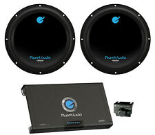 "2) PLANET AUDIO AC10D 10"" 3000W Car Subwoofers Subs+2600W 2 Channel Amplifier"