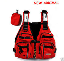 New Red Adult Buoyancy Aid Sailing Kayak Canoeing Fishing Life Jacket Vest