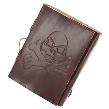 Handmade Jolly Roger Pirate Booty Log Leather Journal Diary