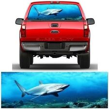 MG9111 Shark Window Truck Tint decal sticker fits Ford Chevrolet Dodge Metro