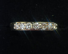 9ct Gold 0.33ct Diamond 7 Stone Half Eternity Ring, Size N