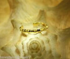 2mm Hawaiian 14k Yellow Gold Over Sterling Silver Tropical `Ohe Bamboo Toe Ring