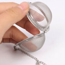Tea Infuser Strainer Chain Herbal Ball Metal Mesh Spherical Colander Ball Filter