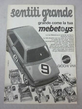 advertising pubblicita' MEBETOYS FIAT 126 ABARTH  -- 1974