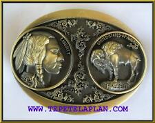 NEW INDIAN NICKEL BUFFALO COIN 3-D GOLD  BELT BUCKLE