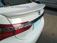 MIT Toyota Corolla Altis ASIA 2014-on ABS LED rear trunk lip spoiler-Unpainted