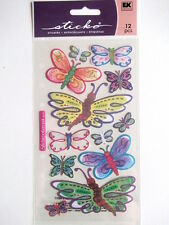 STICKO STICKERS - ORNATE VELLUM BUTTERFLIES - butterfly pastel