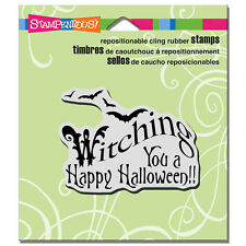 STAMPENDOUS RUBBER STAMPS CLING WITCHING YOU  A HAPPY HALLOWEEN STAMP