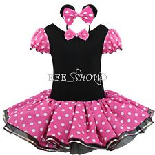 Kids Girls Baby Toddler Minnie Mouse Outfits Party Costume Tutu Dress + Headband