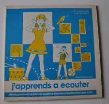 J'APPRENDS A ECOUTER Sounds Children LP Record Lise Champagne, Gosselin 1970s