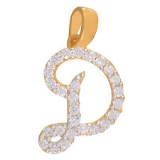 Mahi Delightful D Initial Pendant Made With CZ Stones without Chain PS4101304G