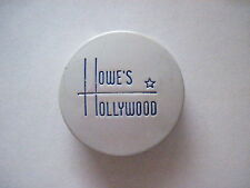 "Sweet 1920-30's Art Deco Little Hinged Tin Box Titled ""Howe's Hollywood"" Rouge *"