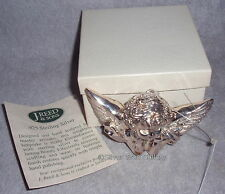 J Reed Time Warner Series Sterling Silver Winged Cherub Angel Christmas Ornament