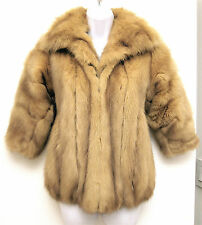 EXC XS S REAL Golden Sable Fur Jacket Half Sleeves Restyle Vest Russian Canadian