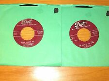LOT of 4 POP 45 RPMs - THE HILLTOPPERS - DOT LABEL
