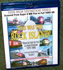 "20142 BLU-RAY HD TRAIN VIDEO ""THIS WAS THE ROCK ISLAND"" FILM"