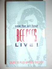 COFFRET 2 K7 VIDEO VHS BEE GEES LIVE ! ONE FOR ALL TOUR / SOUS BLISTER