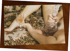 ELMER BATTERS Postkarte EROTIK Ak Fetisch Füße FEET Akt hairy model vintage