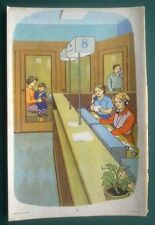 1981 USSR UKRAINIAN VINTAGE POSTER ADVERTISE POST OFFICE TELEGRAPH PHONE BOOTHS