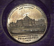 AN-051 - 1876 Centennial Worlds Fair Philadelphia, PA Medal Main bld Art Gallery