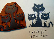 3 angry wet cats silhouette rubber stamp Cling Mounted P64