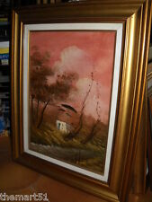 Quadro a Olio - Paesaggio - cm. 42 x 55 + Cornice  - Firma LR - Anni 70/80