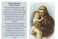 Novena Prayer to Saint Anthony (Lot of 2) Laminated catholic prayer cards