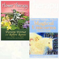 Flower Therapy,Magical Unicorns 2 Oracle Cards By Doreen Virtue BrandNew