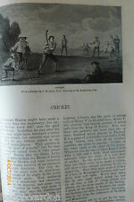 History Cricket Old Victorian Andrew Lang Hugh Thomson Illustrated Article1884