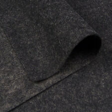 Woolfelt Charcoal Grey ~ 22cm x 90cm / felt heathered quilting black wool fabric