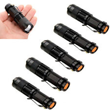6PCS Mini CREE Q5 LED Flashlight Torch 14500/AA 7W 1200LM Adjustable Focus Lamp