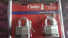 Chalet by Chateau Chalet Two 1-3/4 In Laminated Twin Pack Locks with Four Keys