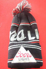 Cool Pom Pom Beanie Hat Coors Light Beer Promotion !