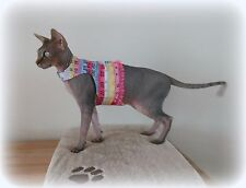 SUMMER walking jacket for a Sphynx cat coat harness kitten starter pet HOTSPHYNX