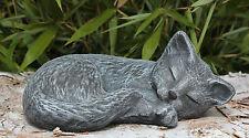 Pietra personaggio gatto addormentato Ardesia Grigio MICIA dekofigur GIARDINO personaggio Gartendeko