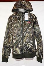 Under Armour Womens Realtree Max 5 Coldgear Full Zip Hoodie Size Medium   NWT